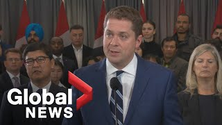 Canada Election: Conservative Leader Andrew Scheer delivers a statement in north Toronto