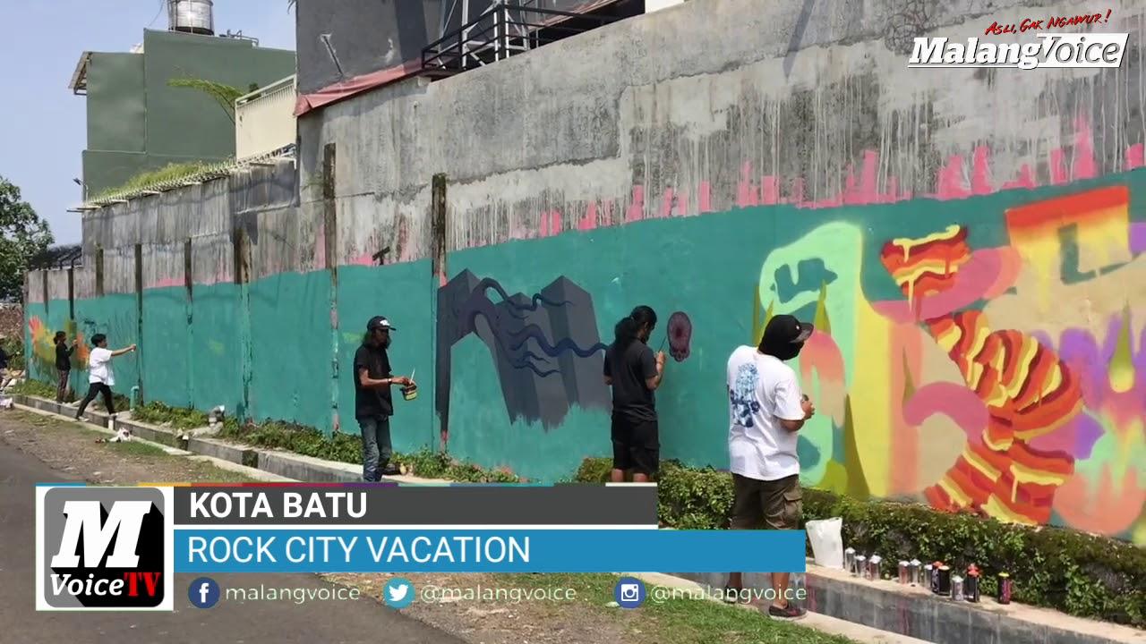 Rock city vacation ajang silaturahmi seniman street art graffiti se indonesia di kota batu