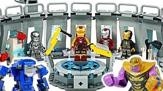 LEGO Marvel Avengers End Game! Iron Man Hall of Armor! Take Thanos Infinity gauntlet! #DuDuPopTOY