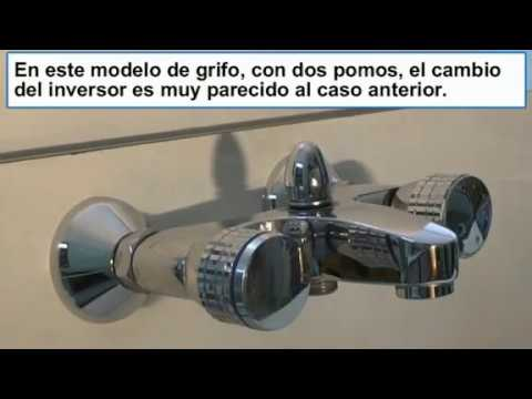 Cambiar o reparar el inversor grifo de la ba era youtube for Grifos antiguos de pared