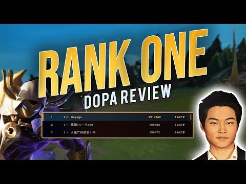 DOPA Hits Rank 1 On Super Chinese Server | 1567LP + 60% WR