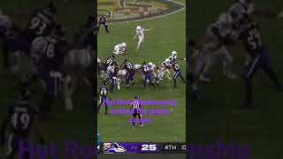 Rodrigo Blankenship missed the GAME WINNING field goal to beat the Ravens in Regulation