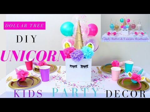 DIY Unicorn Party Ideas | Girls Party Decoration Ideas | Dollar Tree Party Decorations