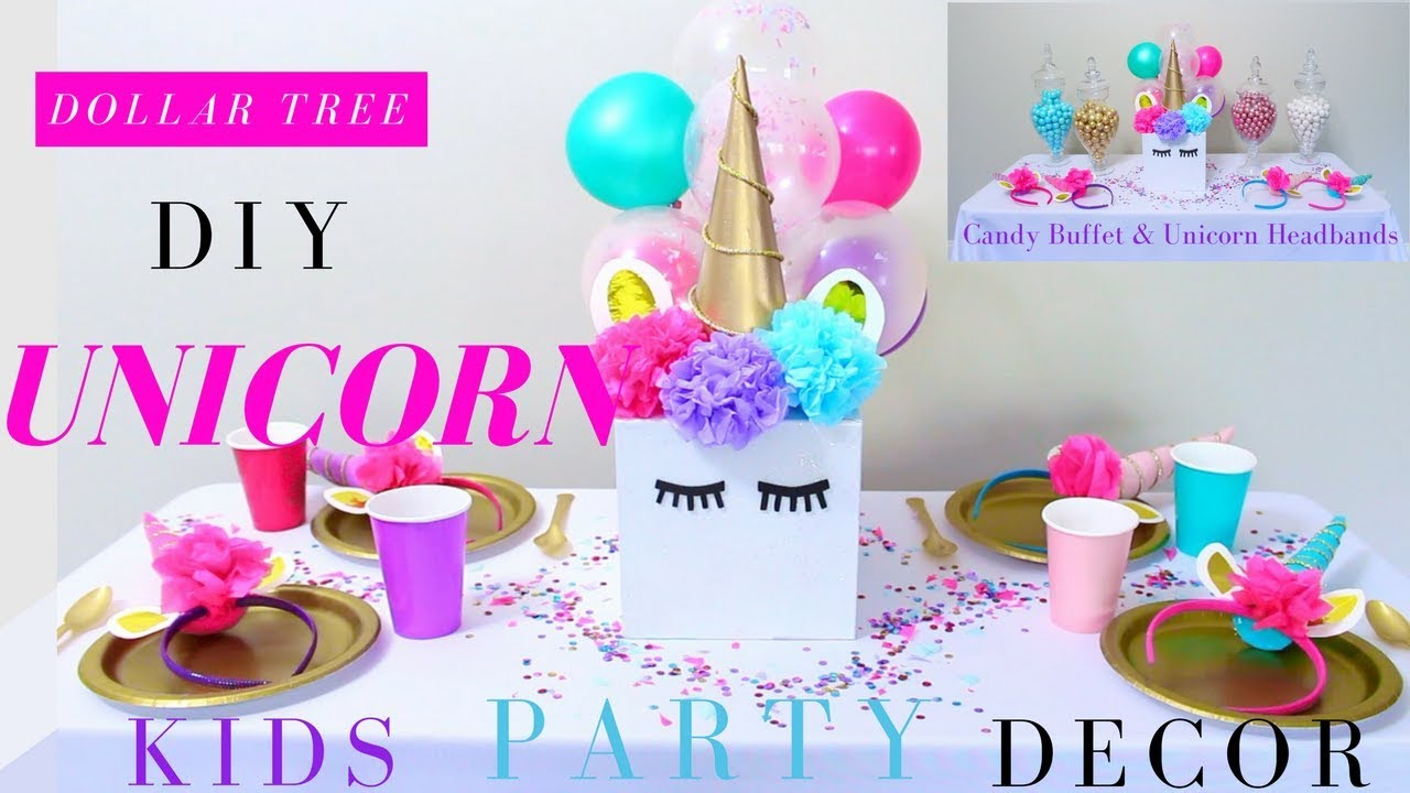 diy unicorn party ideas | diy unicorn headband | dollar tree party
