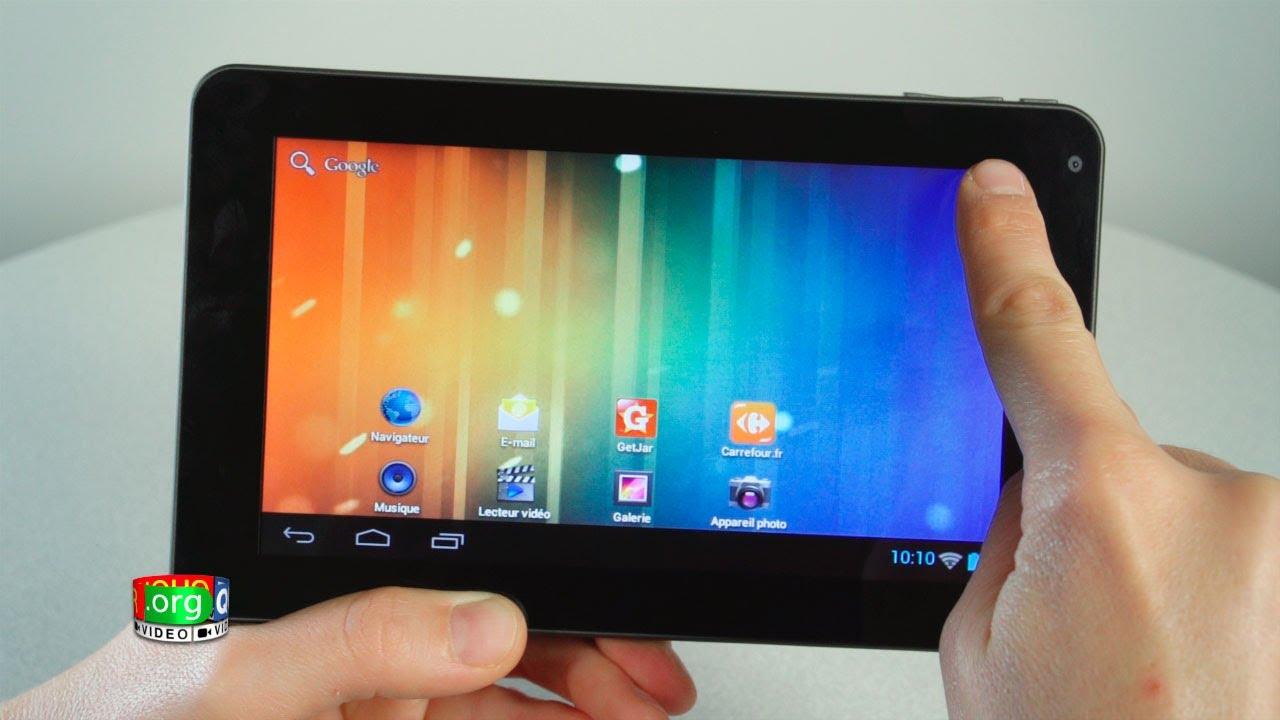 Tablette carrefour ct705 prise en main youtube - Petite tablette pas cher ...
