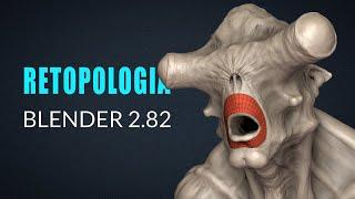 Retopologia no Blender 2.8 Configuração simples e fácil