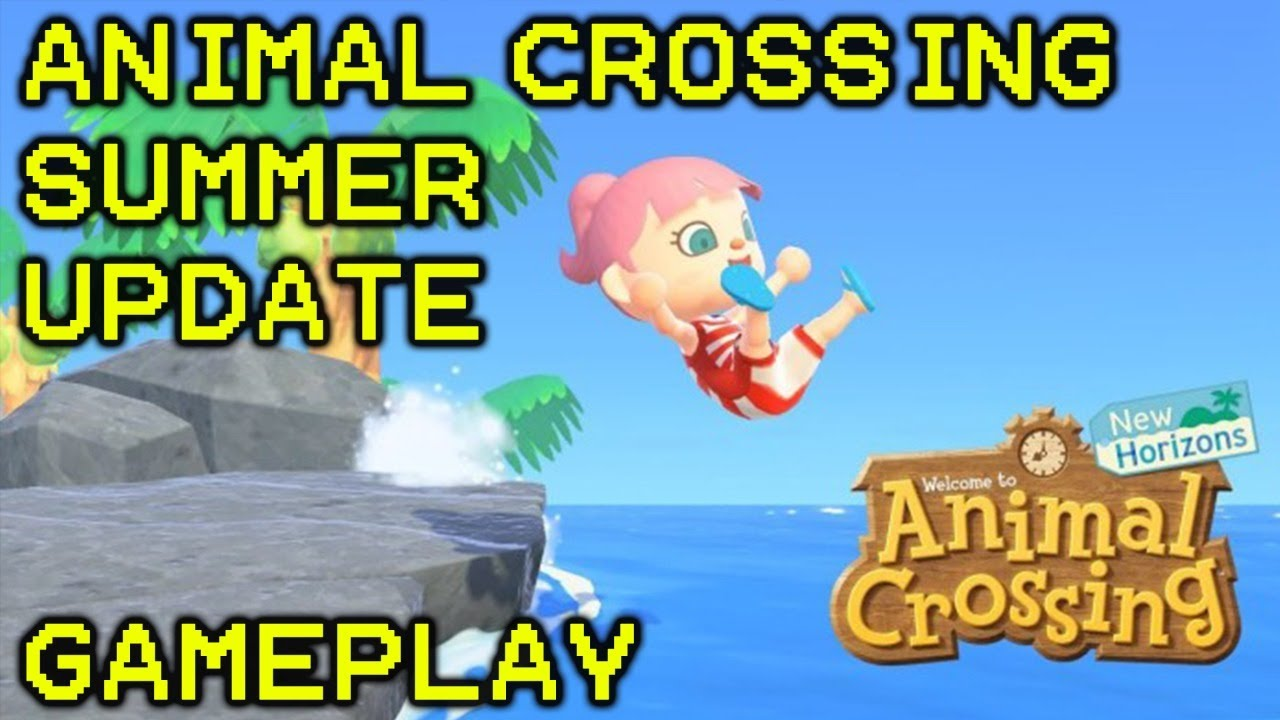 Animal Crossing: New Horizons Summer Update #1 | Let's Go for a Swim!