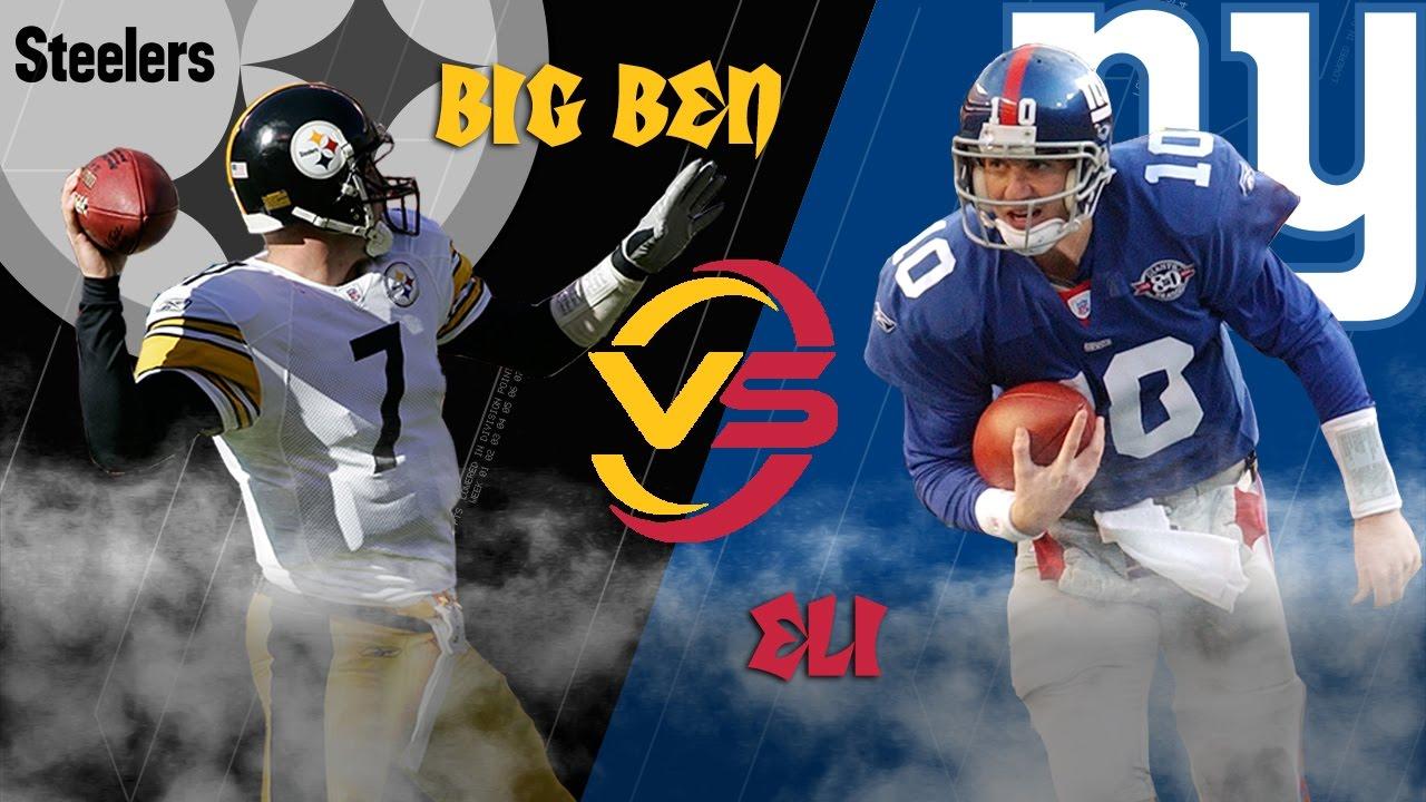 Steelers Vs Giants 2004 Highlights Big Ben Vs Eli Manning Battle Of The Rookies Nfl Youtube