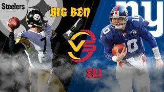 Steelers vs. Giants (2004 Highlights) | Big Ben vs. Eli Manning: Battle of the Rookies | NFL