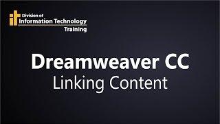 Dreamweaver CC - Comment Créer des Liens
