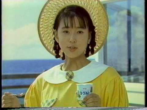 """グリコ カリフォルニアファーム ヨーグルト 設楽りさ子 15"""" 1988"""