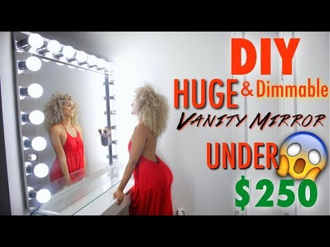 DIY Vanity with Dimmable lights for under $250 (50 Inch Vanity)