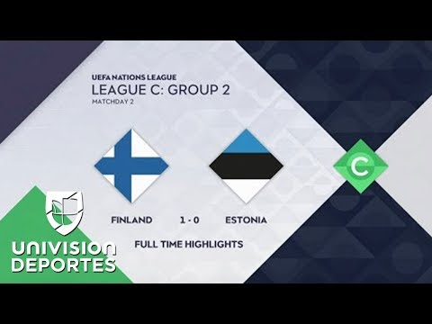 Finlandia 1-0 Estonia - GOL Y RESUMEN - UEFA Nations League