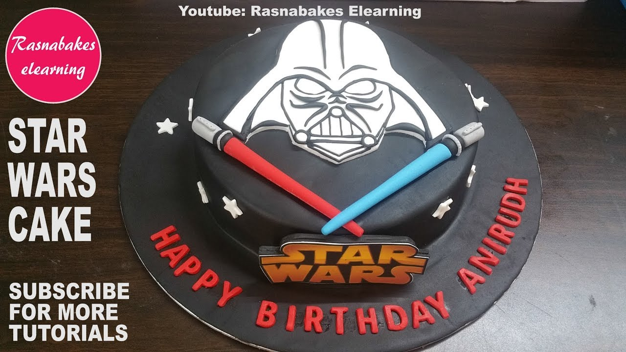 Fondant Icing Star Wars Action Figures Darth Vader Birthday Cake Design Ideas Decorating Tutorial
