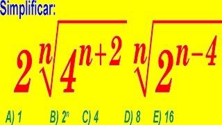 Exponentes - Álgebra Preuniversitaria- Problema Resuelto Tipo Examen de Admisión a La Universidad