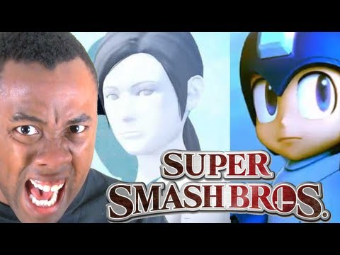 MEGA MAN & WII FIT in SUPER SMASH BROS : Black Nerd RANTS
