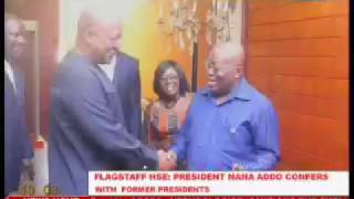 President Akufo-Addo confers with former Presidents Rawlings, Kufuor and Mahama
