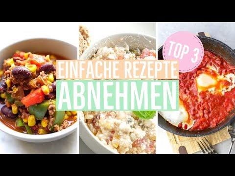 Menü mit 6 Mahlzeiten zum Abnehmen