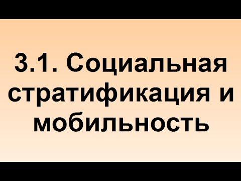 3.1. Социальная стратификация и мобильность