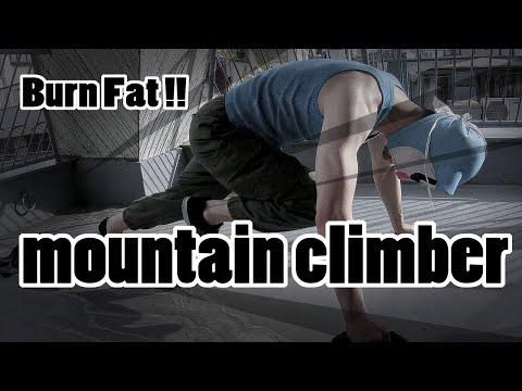 脂肪燃焼に最適!マウンテンクライマー【ダイエット】the mountain climber challenge