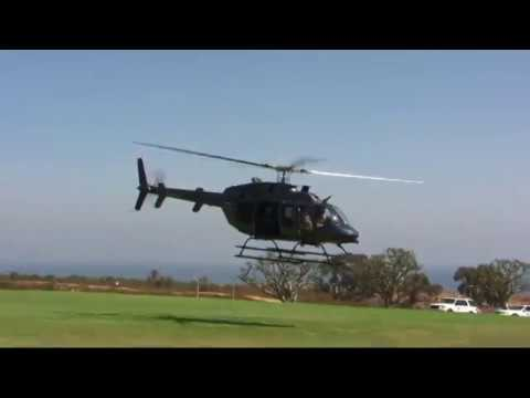 911 Memorial FBI Helicopter Lands On Lawn in Malibu