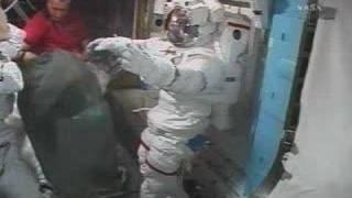 Preparing for the first spacewalks
