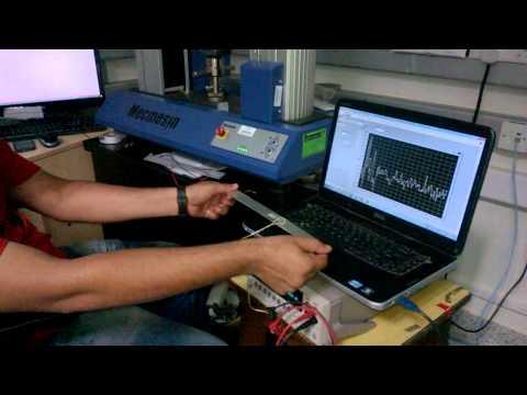 piezoelectric PVDF film sensor for strain/ deformation sensing using source meter