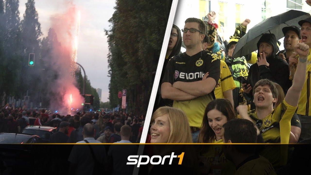 Der große Fanvergleich: Feuerwerk in München, Spott beim BVB | SPORT1