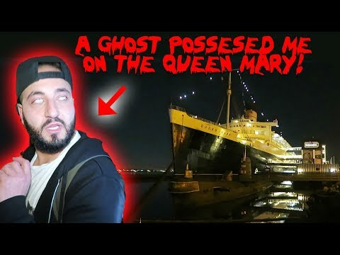 A GHOST POSSESED ME ON THE QUEEN MARY SHIP! *HAUNTED SCRATCHES ON MY NECK*