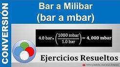 Bar a Milibar (bar a mbar)
