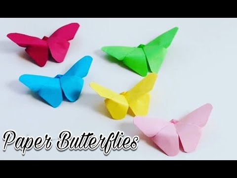 Paper Butterfly ! One Paper Craft ! Home Decor ! Wall Decoration ! For Kids ! Craft With TK