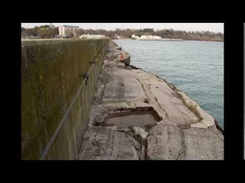 Breakwater Disintegration in Port Washington Wisconsin
