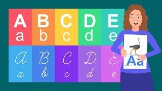 Alfabeto para crianças. Alfabeto ilustrado. Alfabeto infantil