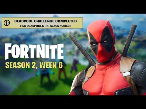 DEADPOOL'S WEEK 6 CHALLENGES - Big Black Marker Location & Where To Deface 3 Posters In ONE Spot!