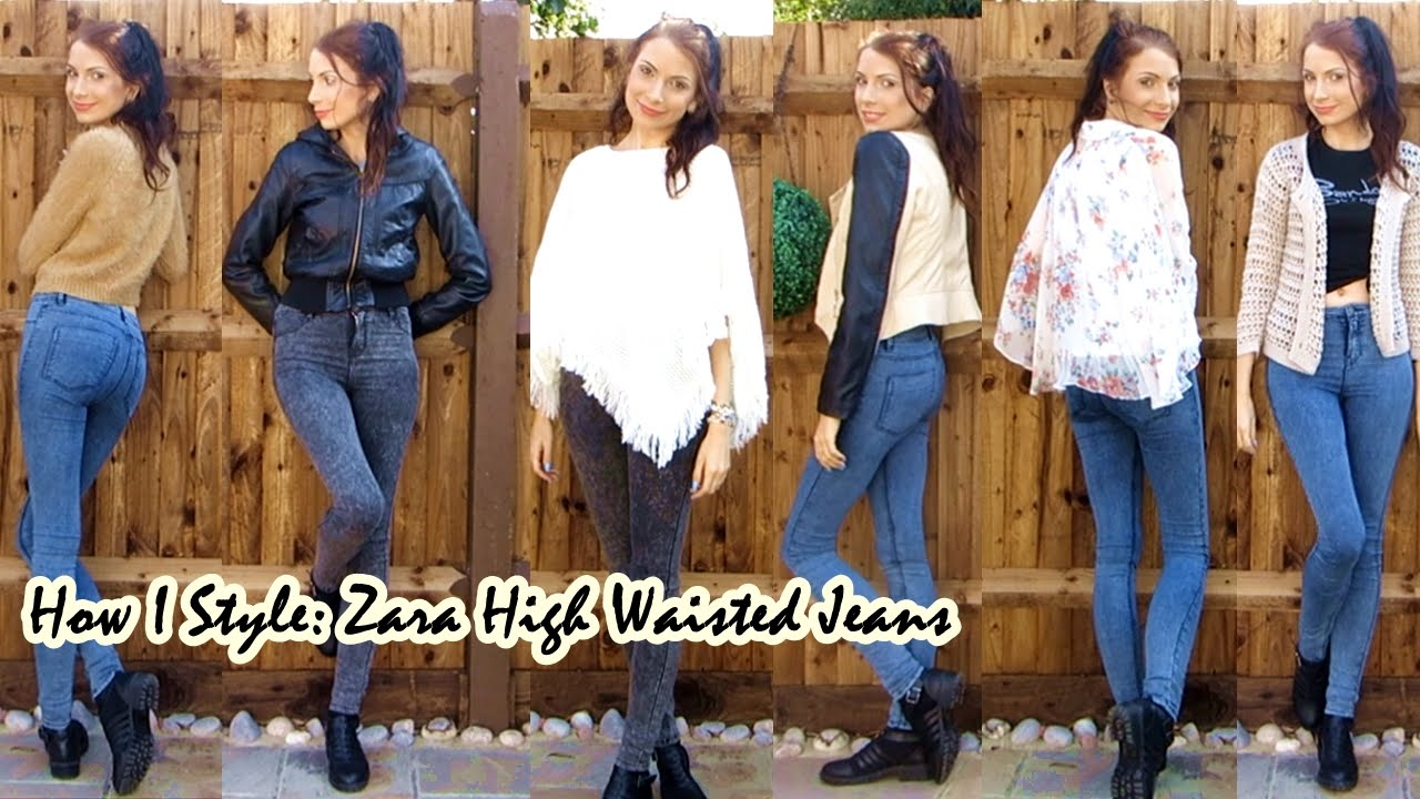 8019f182 How To Style Zara High Waisted Jeans / Jeggings | Ola Lily - YouTube