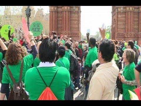 Escrache ante despacho de diputada del PP en Barcelona