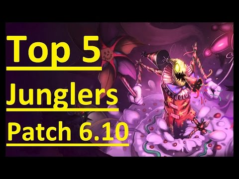 TOP 5 JUNGLERS FOR PATCH 6.10 - League of Legends