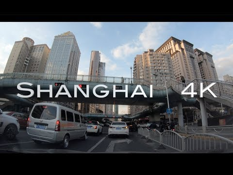 [4K] Shanghai Drive | Downtown Shanghai | Jing'an & Huangpu District | China