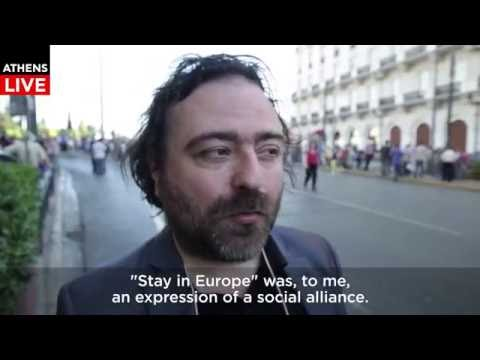 Journalist Dimitris Maniatis on the anti-government Demonstration in Athens