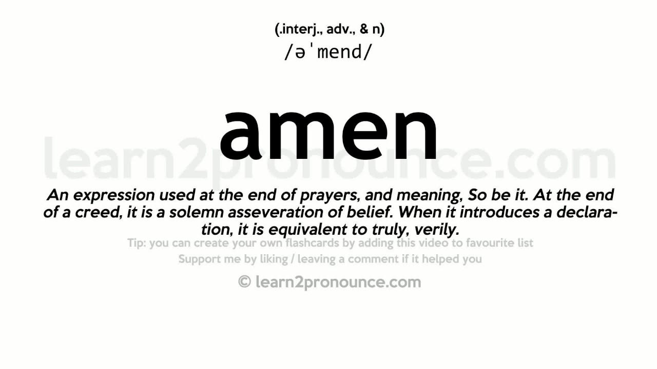 Image result for amen definition