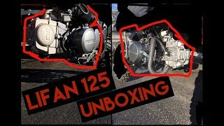Lifan 125cc Engine install | UNBOXING