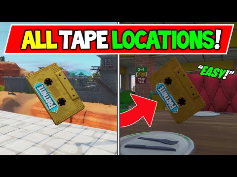 Collect The Visitor Recording On The Floating Island And In Retail Row - ALL 6 TAPE Locations!