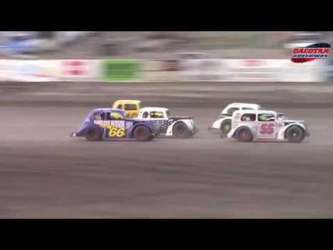 Dacotah Speedway INEX Legends A-Main (8/10/18)