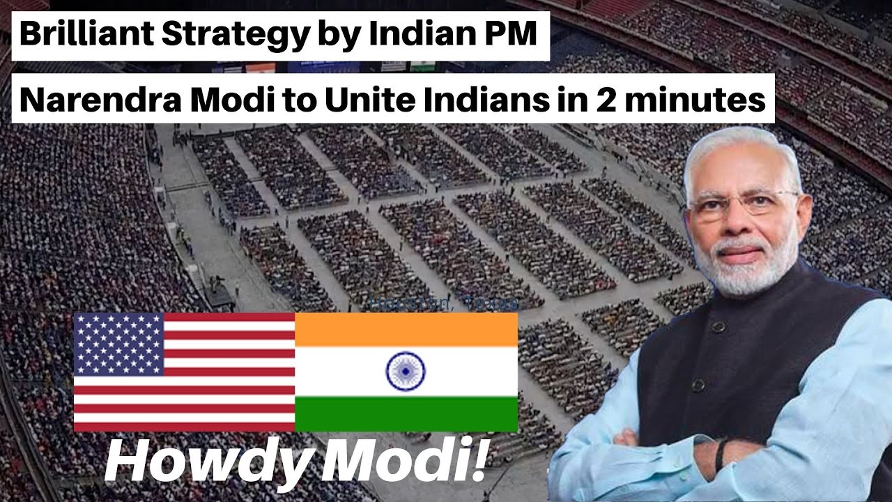 Modi's Brilliant Strategy Uniting Indians in 2 Minutes! Howdy Modi - Historical Event at Houston, TX