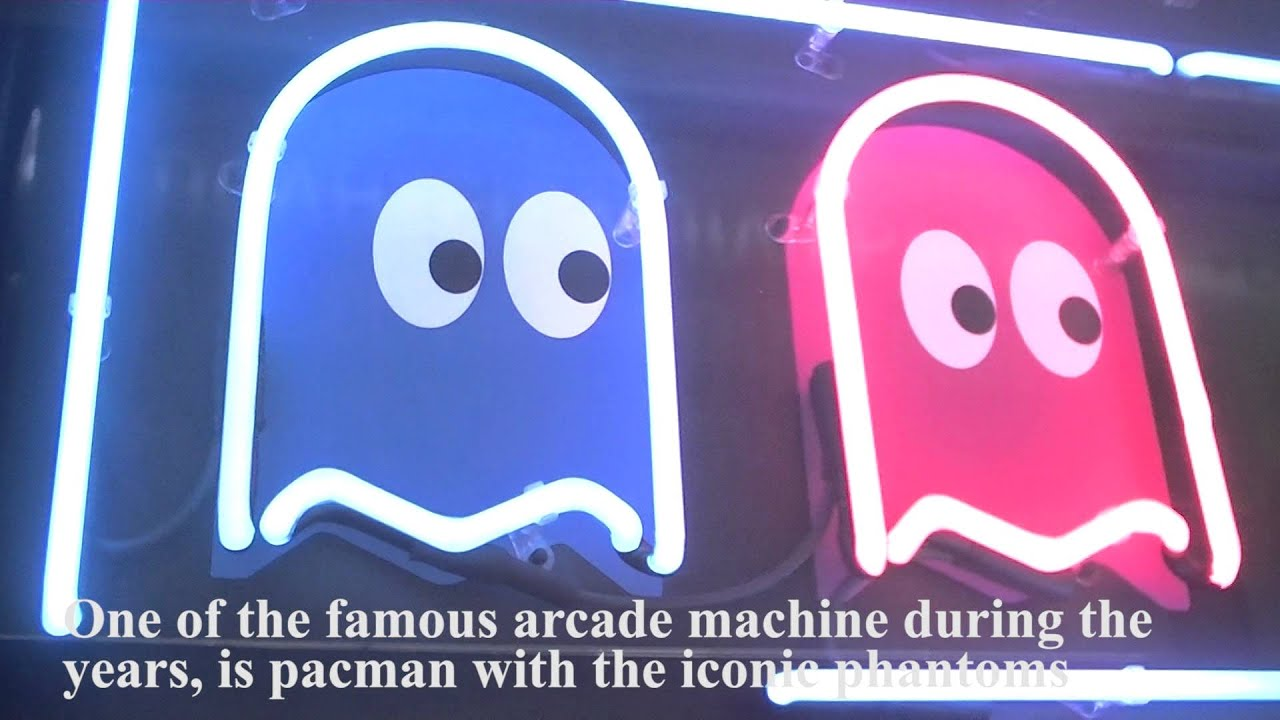 pacman neon sign youtube