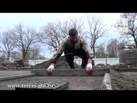 Как уложить тротуарную плитку своими руками видео