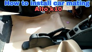 How to install car Full Floor mat