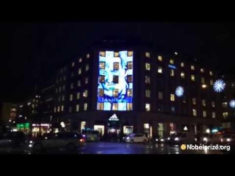 LED screen outside Concert Hall in Stockholm
