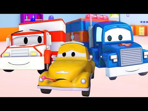 Carl Transforms e Ambulância na Cidade do Carro  Desenho animado para crianças