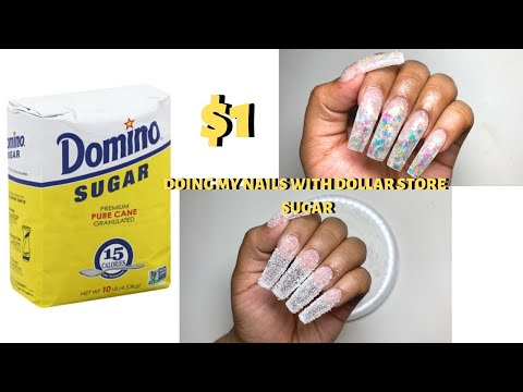 $1-nail-hack---doing-my-nails-w|-dollar-store-sugar---does-it-really-work?